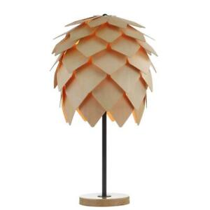 Simon 20.5 in. Wood/Black Pinecone Wood/Metal LED Table Lamp by JONATHAN Y