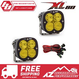 BAJA DESIGNS XL80 Pair Amber Driving Combo LED Light Bar 80W 9,500Lm