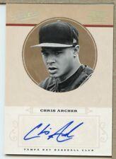 Chris Archer 2012 Playoff Prime Cuts Century Silver Signatures /25 MHK10361