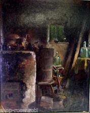 Georg Kau (*1870)  -   tolles Ölgemälde - die Rumpelkammer