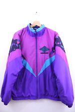 A46 Vtg UMBRO Football 80s Men Track Jacket Purple Pink Windbreak Size XL