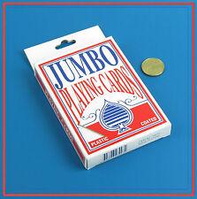 Plastic Coated JUMBO Playing Cards Poker Gambling Casino Gaming Giant Fun SYDNEY