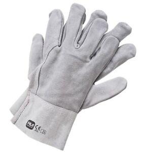 Leather Welding Gloves for MMA ARC TIG MIG Plasma Welder Spark Proof Heat Resist