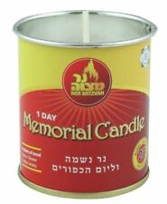 Memorial CANDLE for YOM KIPPUR.... jewish judaica holiday festival.. BURNS 1 DAY