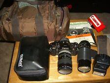 Canon A1 Slr Film Camera Lot of Accessories Near Mint 2061146