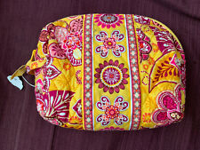 Vera Bradley Quilted Large Cosmetic Makeup Bag, Bali Gold, New Retired