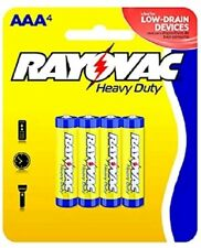 """Rayovac 3AAA-4F Heavy Duty """"AAA"""" Batteries, 4-Pack. - Quantity 12 packages"""