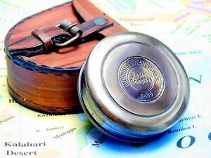 "Nauticals decor gift item 2"" Brass maritime antique vintage pocket compass"