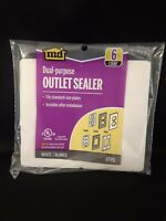 M-D Dual Purpose Foam Outlet Sealers 6 Pack for Standard Size Plates 87916