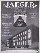 PUBLICITÉ 1930 JAEGER HORLOGER DE LA MARINE DE L'ÉTAT - ADVERTISING