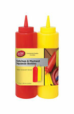 Tablecraft  Nostalgia  Ketchup and Mustard Dispensers  24 oz. Red/Yellow