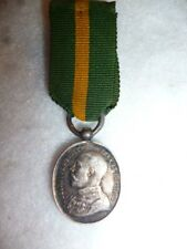 George V WW1 Territorial Force Efficiency Medal Miniature Medal, Silver