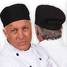 2 Pc Chef Cook Black Basic Skull Cap Hat Beanie New ! Free Shipping