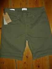JACK & JONES RICK SHORTS REGULAR FIT WITH STRETCH OLIVE SIZE S W32IN NEW