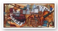 Philly Jazz (2005 Commemorative Poster) Sidney Carter African American Art 12x36