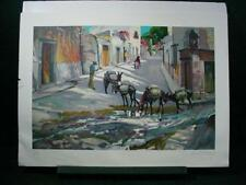 """NobleSpirit {3970} Signed/Numbered Conrad Schwiering Litho """"Burro Express"""""""
