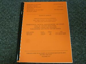 1977 Army Navy Air Force MEP-017A MEP-022A Generator Set Service Repair Manual