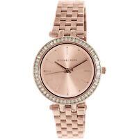 NEW Michael Kors Rose Gold Mini Crystal Darci Dial MK3366 S-Steel Women's Watch