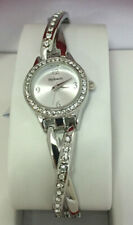 NEW! STYLE & CO GLITZ CRYSTALS ACCENTS CROSSOVER SILVER-TONE BRACELET WATCH SALE