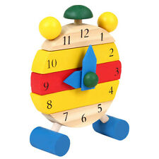 Baby Kids Toddler Jigsaw Puzzle Game Learning Educational Wood Toy Bricks Clock