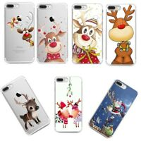 Christmas Xmas Soft Silicone TPU Skin Case Phone Cover for iPhone X Xs Huawei