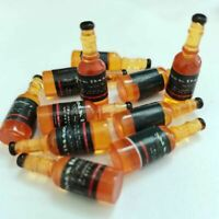 4X1//6 Scale Dollhouse Miniature Drink Whisky Wine Bottles Model Pretend Play FDO