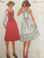 1977 Simplicity 8049 Vintage Sewing Pattern Womens Dress Jumper Size 7 8