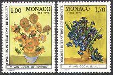 Mónaco 1978 Vincent van Gogh/flores/Arte/Pintura/personas/artistas 2 V Set (n33839)