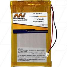 PAB-DA2WB18D2 3.7V 1.7Ah Lithium CD-MP3-MP4-Media Player Battery