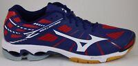 Men's Mizuno Wave Lightning Z Running Shoes Navy/White/Red 430187.5110 New