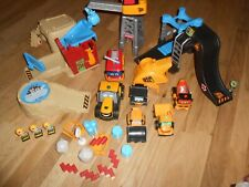 Collection of JCB Construction Toys Vehicles Buildings (Used) Diggers Figures