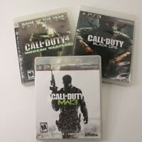 Lot of 3 PS3 Games-Call of Duty, Modern Warfare, Black Ops, Modern Warfare 3