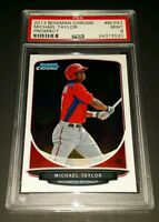 2013 Bowman Chrome #BCP47- Michael Taylor Rookie Card! PSA MINT 9!