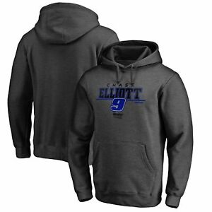 Chase Elliott Fanatics Branded Stealth Pop Verbiage Pullover Hoodie - Heathered