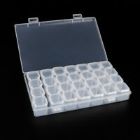 28 Grids Plastic Empty Storage Box Jewelry Nail Art Display Container Case