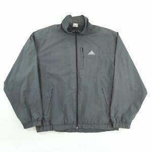 Vintage Adidas Windbreaker Jacket Grey XL Full Zip
