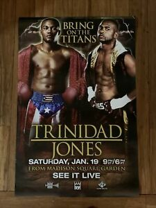Felix Trinidad vs Roy Jones 2008 Double-Sided Official Poster; English & Spanish