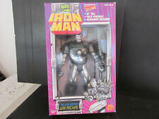 "NOS Toy Biz Marvel Comics Deluxe 10"" IRON Man Action Figure w Accessories #46603"