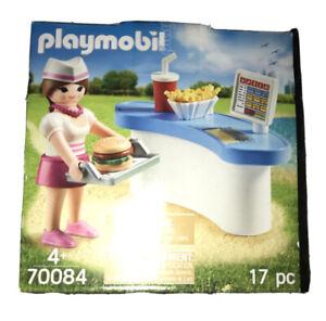 PLAYMOBIL 70084 - Serveuse Fast Food Hamburger Frites