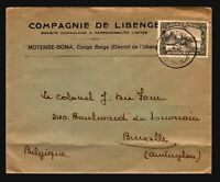 Belgian Congo 1938 Commercial Cover to Brussels / Bottom Fold - Z14368