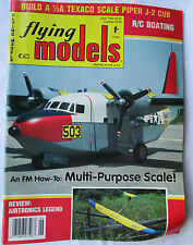 Flying Models Magazine June 1993 Planes Boats Cars Texaco Scale Piper J-2 Cub