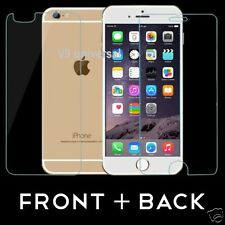 100%  Real Tempered Glass Film Screen Protector Front Back for Apple iPhone 6