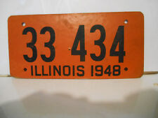plaque immatriculation usa illinois 1948 license plate old ancienne