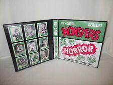 Custom Made Nu-Cards 1961 Horror Monsters Trading Card Album Binder