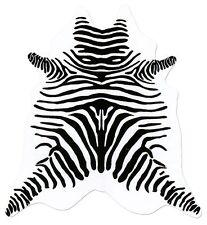 große südamerikanische Rinderfelle, Kuhfelle, weiß bedruckt mit Zebra-Zeichnung