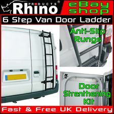 H1 - Rhino Rear Door 6 Step Anti Slip Roof Rack Ladder Citroen Relay 1995-2006