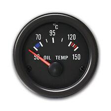 JOM Zusatzinstrument 52mm Öltemperatur Anzeige 50-150 °C Youngtimer schwarz