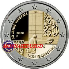 2 Euro Commémorative Allemagne 2020 - Génuflexion de Varsovie UNC NEUVE