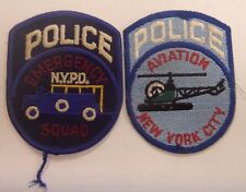 NYPD Emergency Squad & New York City Aviation Police Shoulder Patches