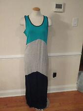 2b bebe colorblock maxi dress medium new    #473   #639